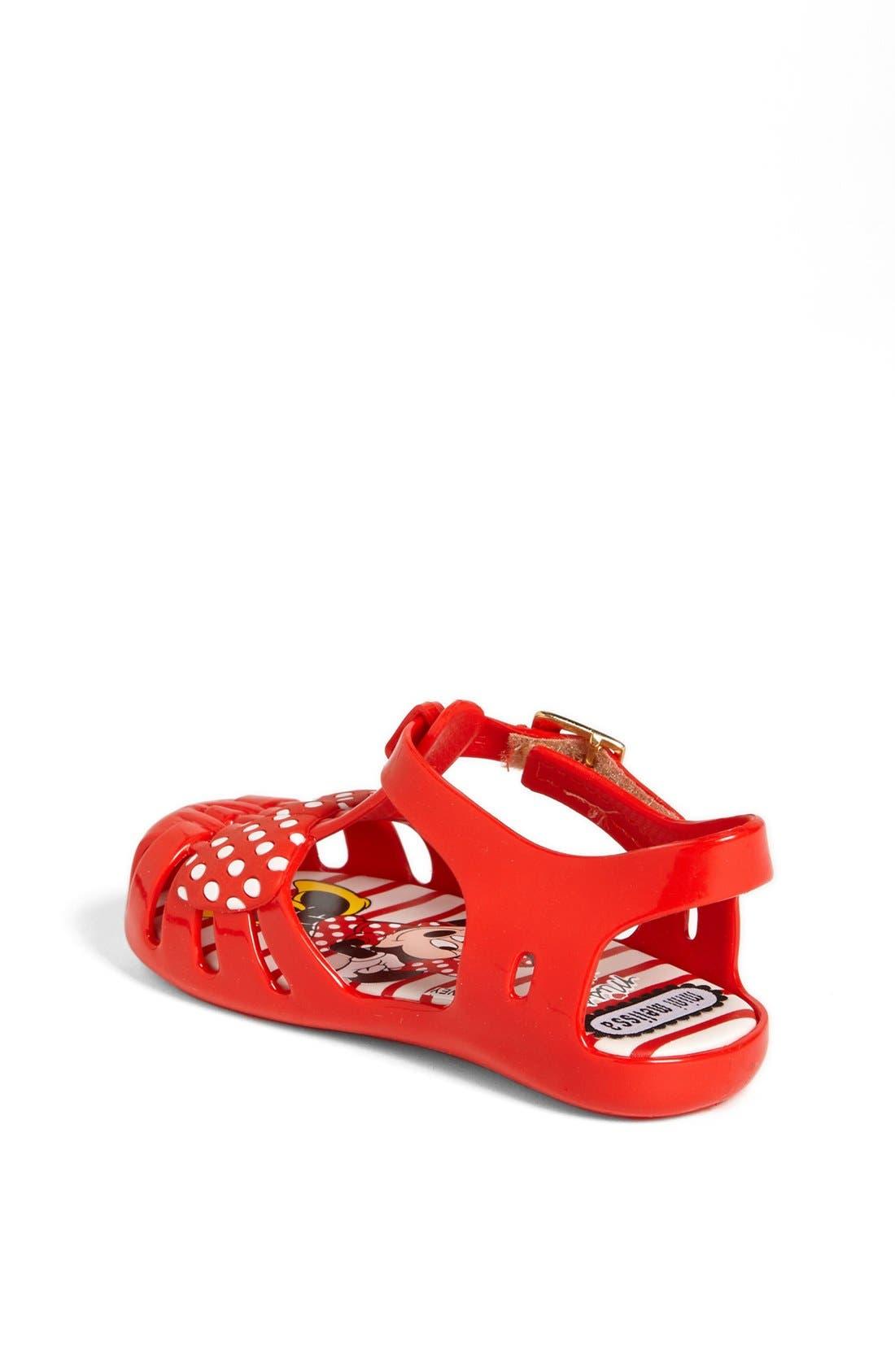 Alternate Image 2  - Mini Melissa 'Aranha - Minnie Mouse®' Sandal (Walker & Toddler)