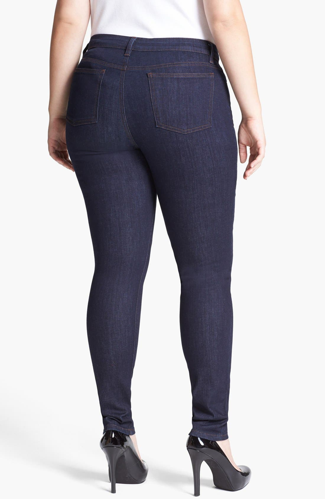 Alternate Image 2  - Eileen Fisher Skinny Jeans (Plus Size)