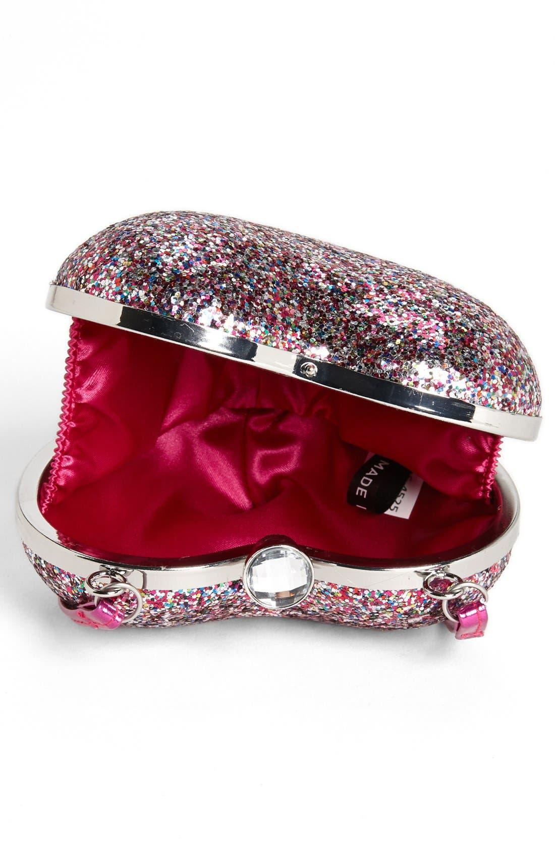 Alternate Image 3  - Capelli of New York Glitter Heart Shaped Handbag (Girls)