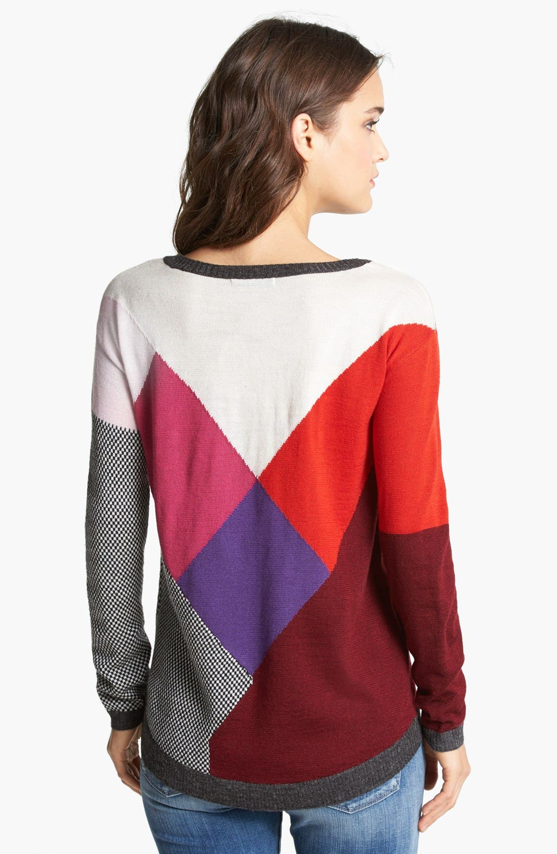 Alternate Image 2  - Ella Moss Long Sleeve Multicolored Sweater