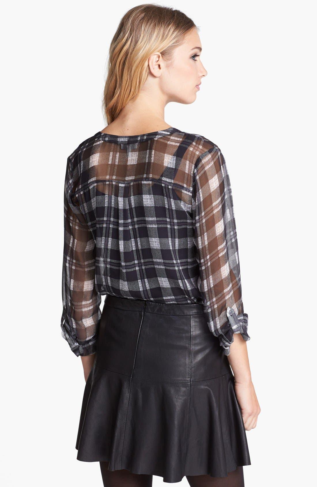 Alternate Image 2  - Joie 'Brigid' Plaid Silk Shirt
