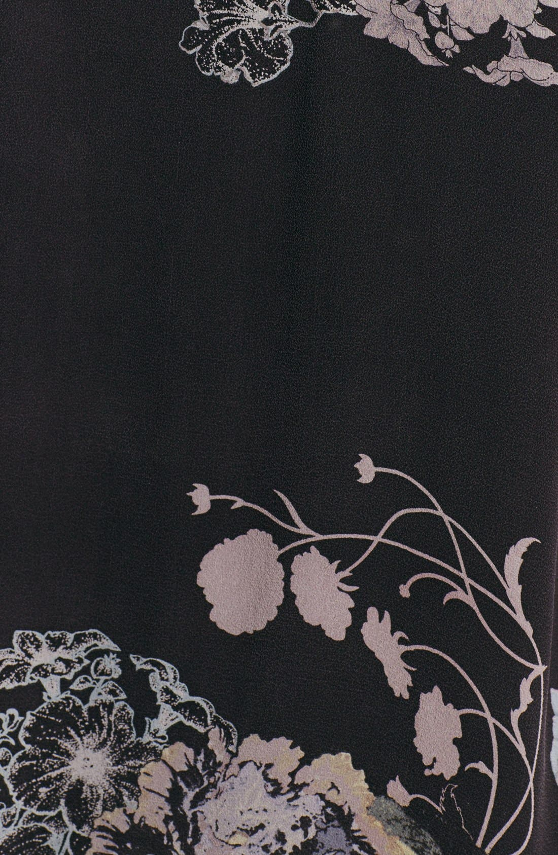 Alternate Image 3  - Citron Print Silk Draped Jacket (Plus Size)