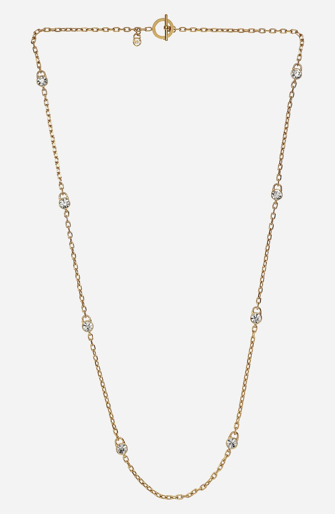 Alternate Image 1 Selected - Michael Kors 'Brilliance Botanicals' Lock Station Long Necklace
