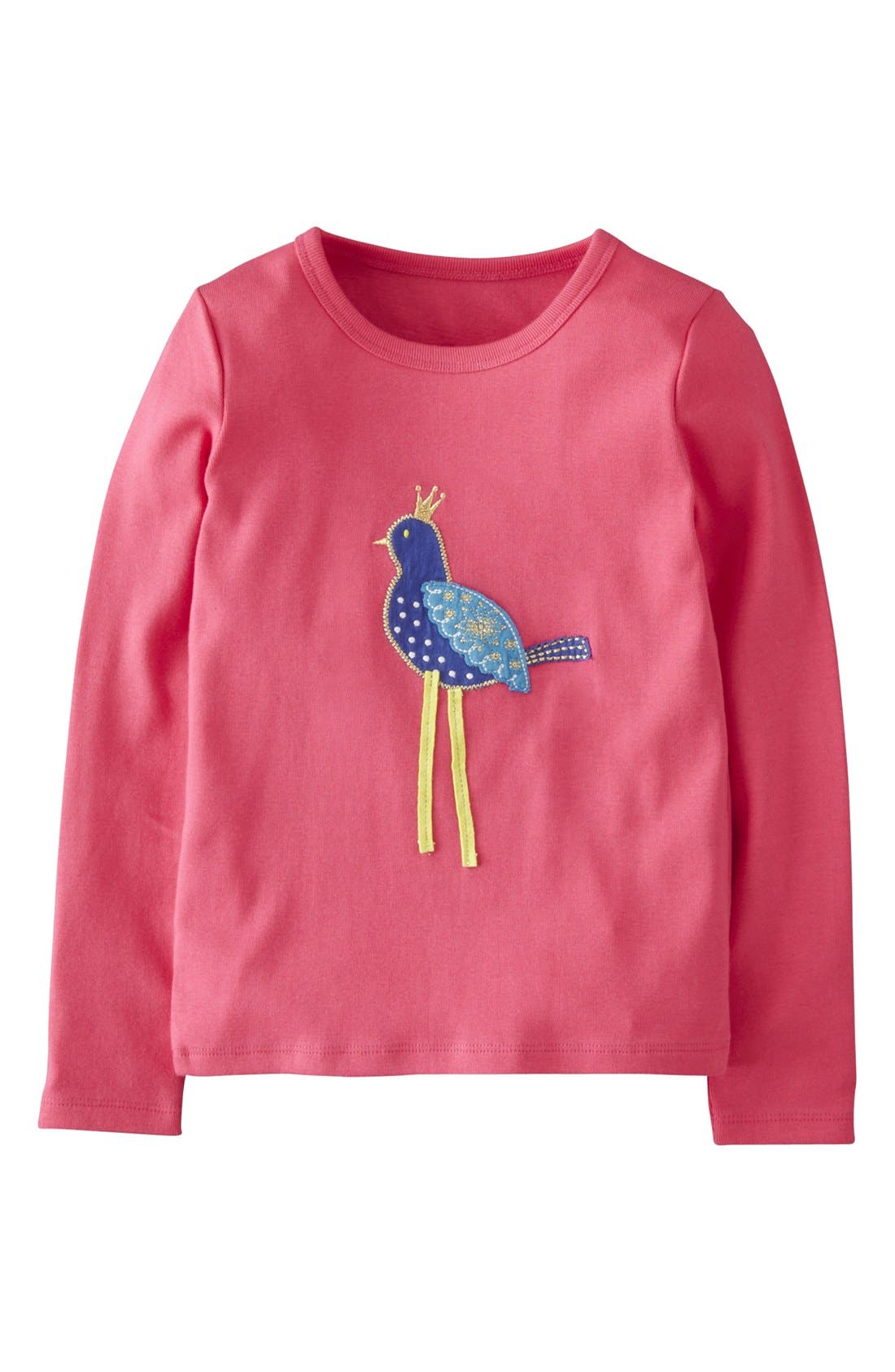 Alternate Image 1 Selected - Mini Boden Appliqué Long Sleeve Tee (Toddler Girls, Little Girls & Big Girls)