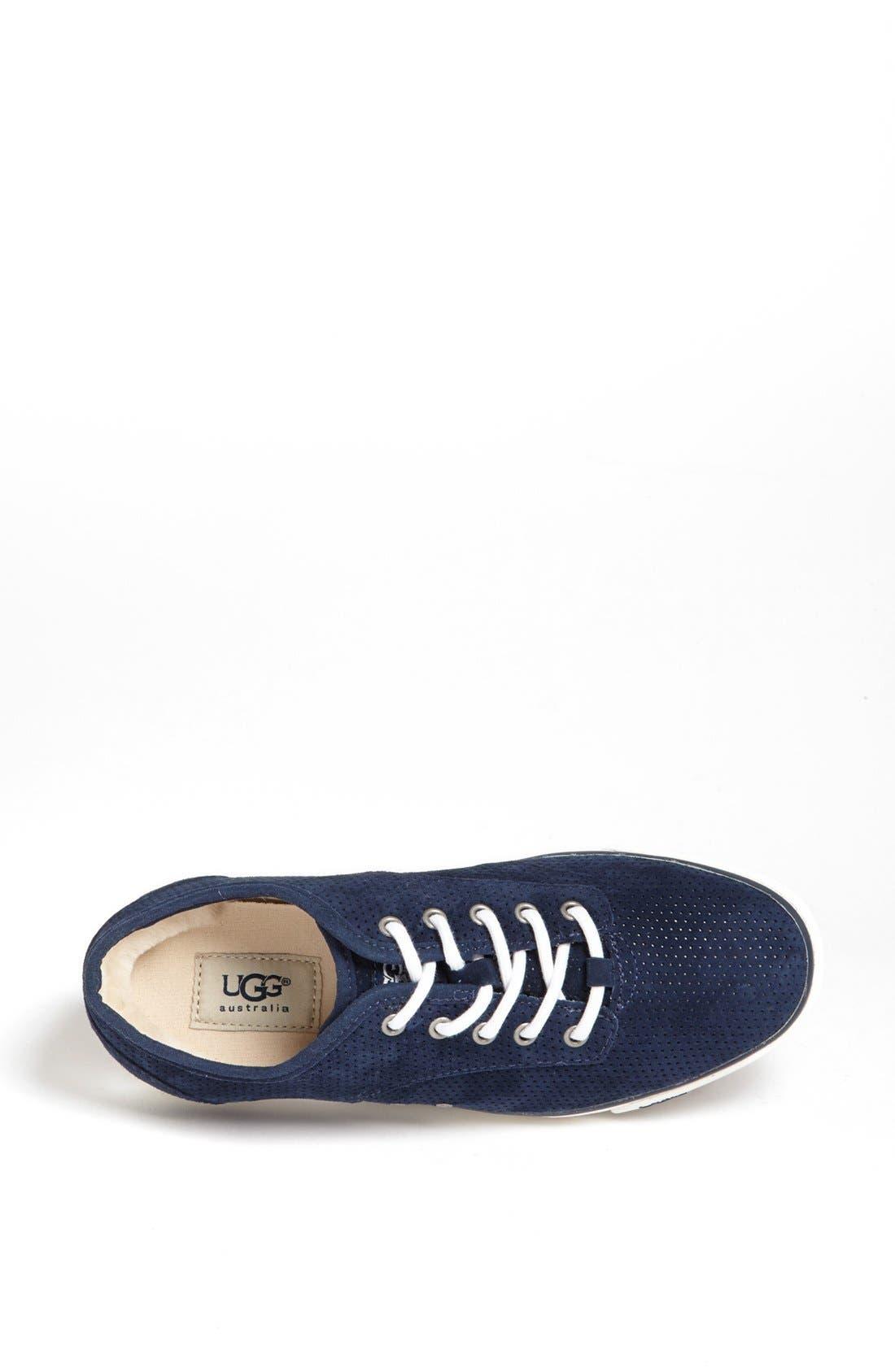 Alternate Image 3  - UGG® Australia 'Hally' Perforated Suede Sneaker