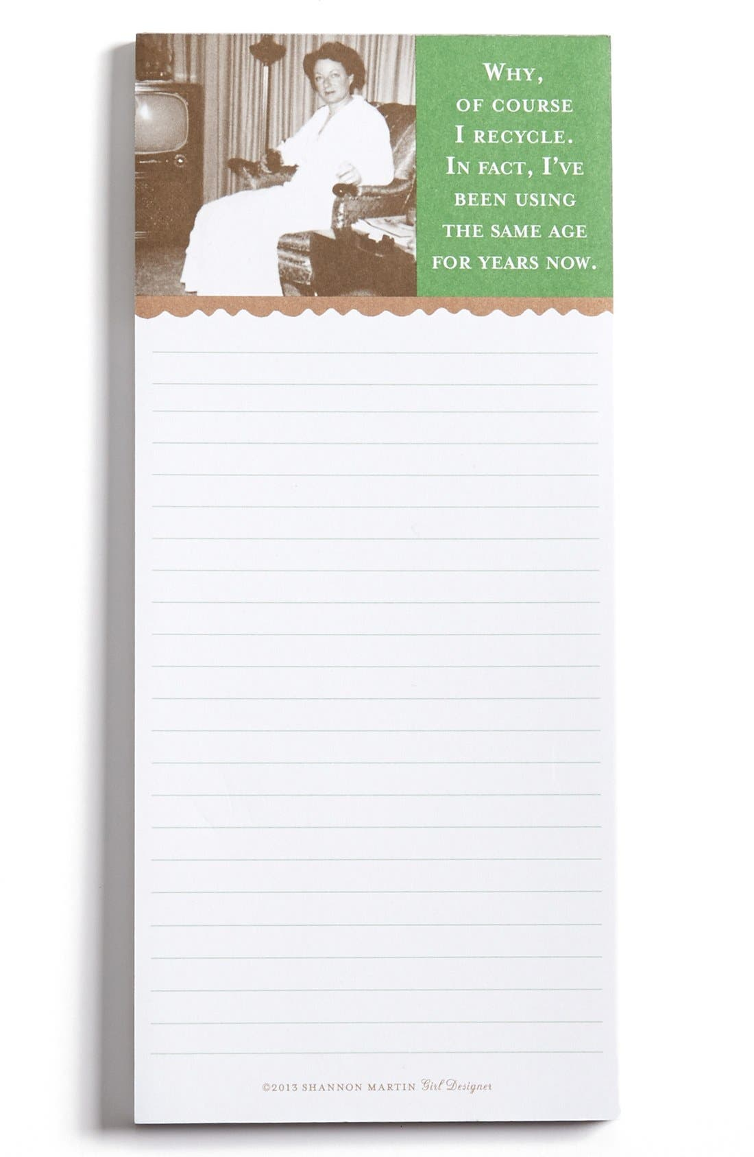 Alternate Image 1 Selected - 'I Recycle' Magnetic List Pad