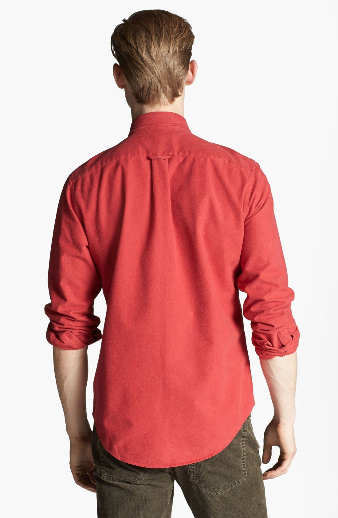 Alternate Image 2  - Gant by Michael Bastian Brushed Cotton Sport Shirt