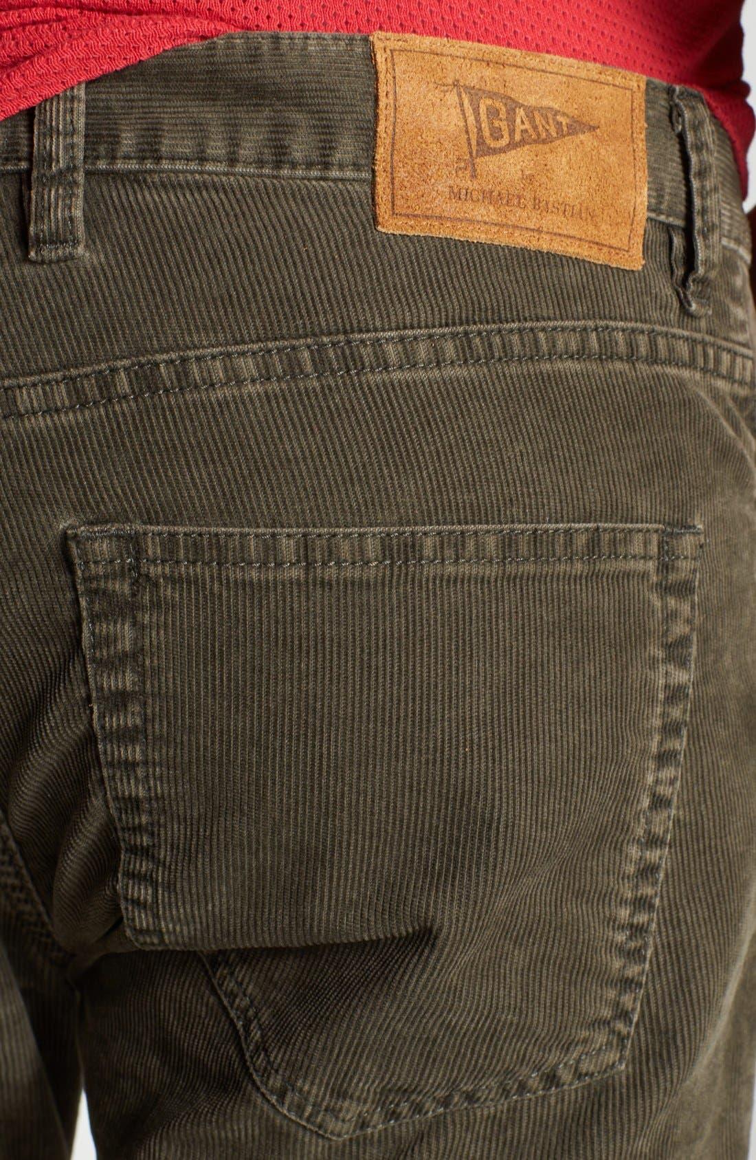 Alternate Image 4  - Gant by Michael Bastian Slim Straight Leg Corduroy Pants
