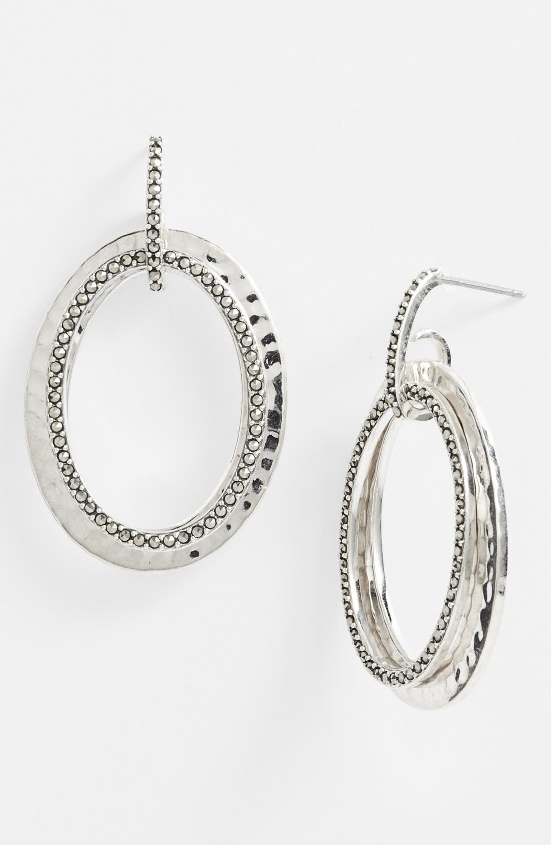 Main Image - Judith Jack 'Halo' Oval Drop Earrings