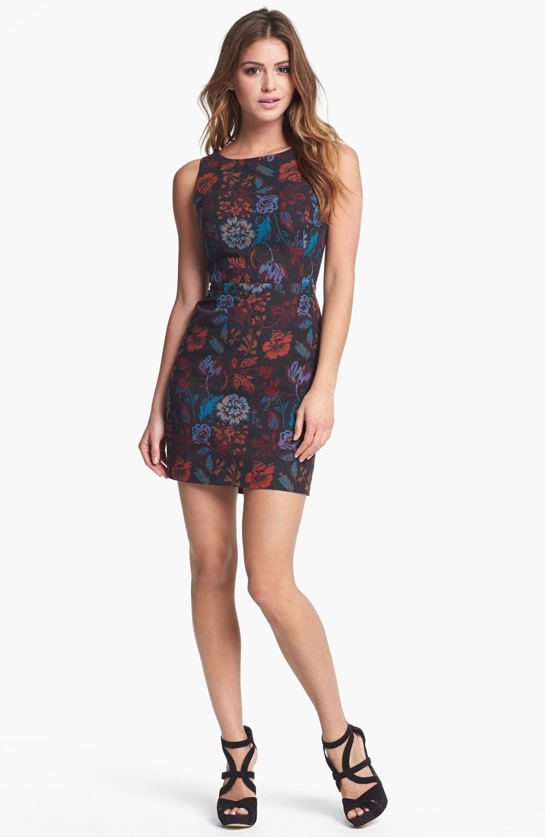 Alternate Image 1 Selected - BB Dakota 'Leona' Brocade Cotton Sheath Dress