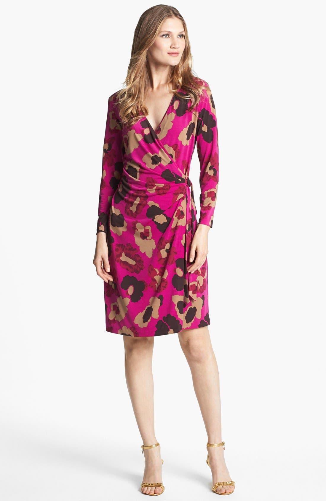 Main Image - Anne Klein Floral Print Faux Wrap Dress