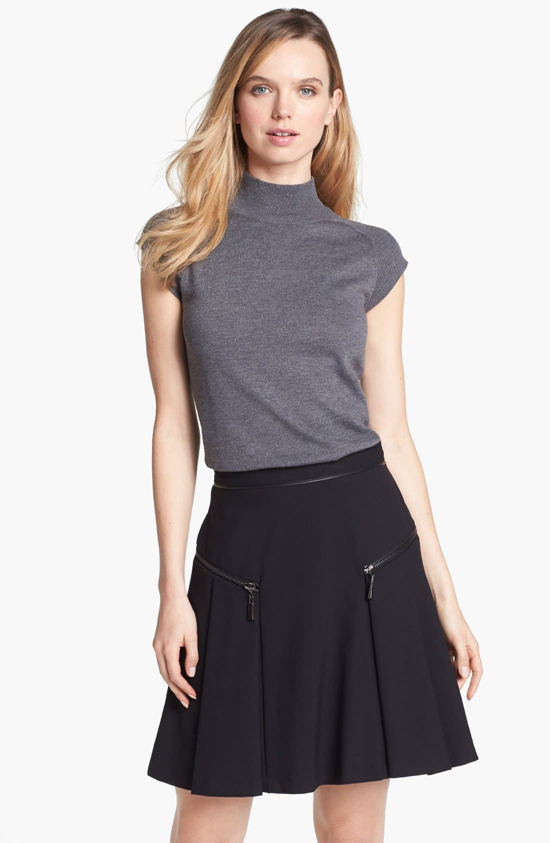 Alternate Image 1 Selected - Vince Camuto Mock Neck Sweater