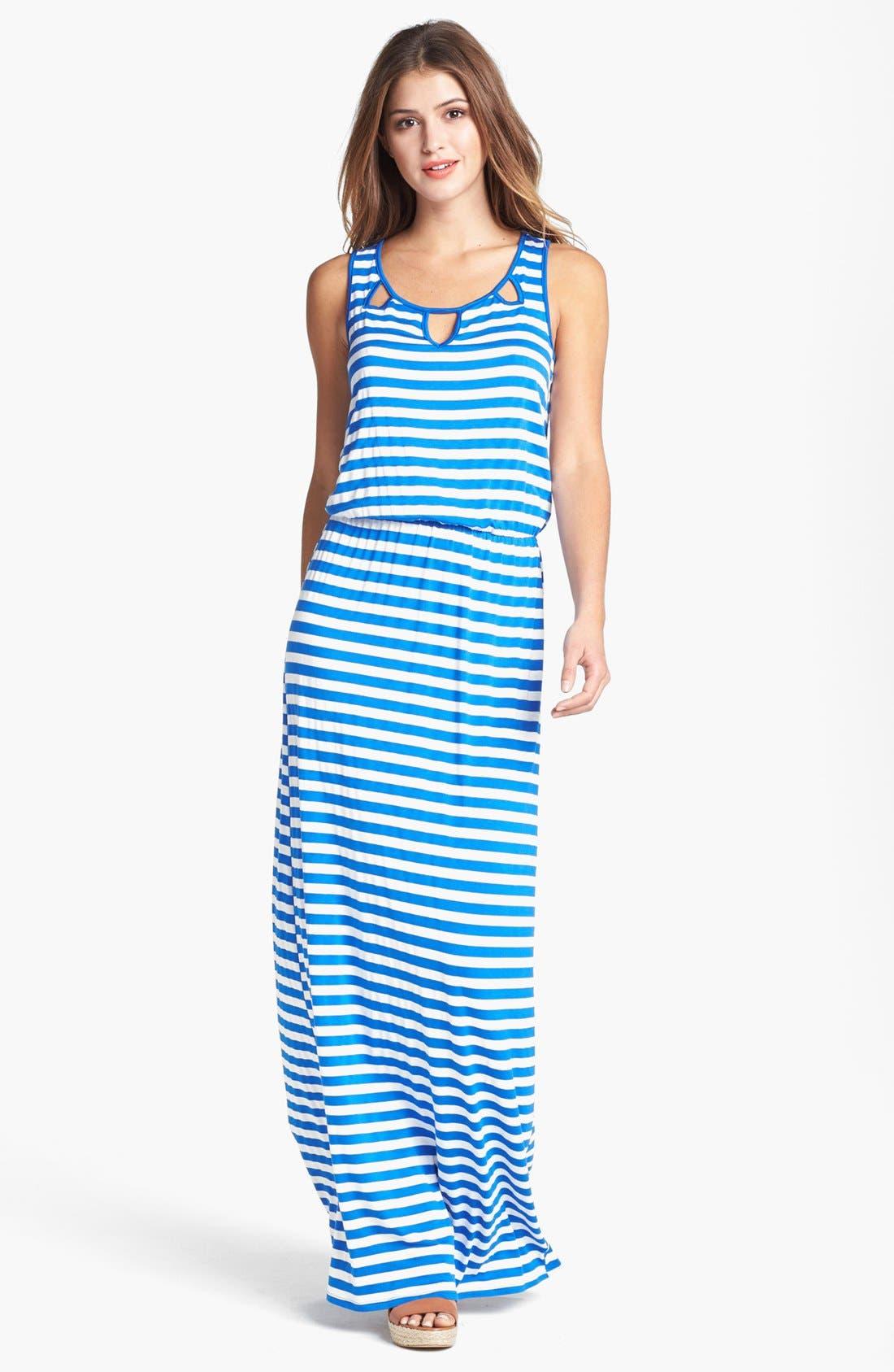 Alternate Image 1 Selected - Pleione Cutout Maxi Dress