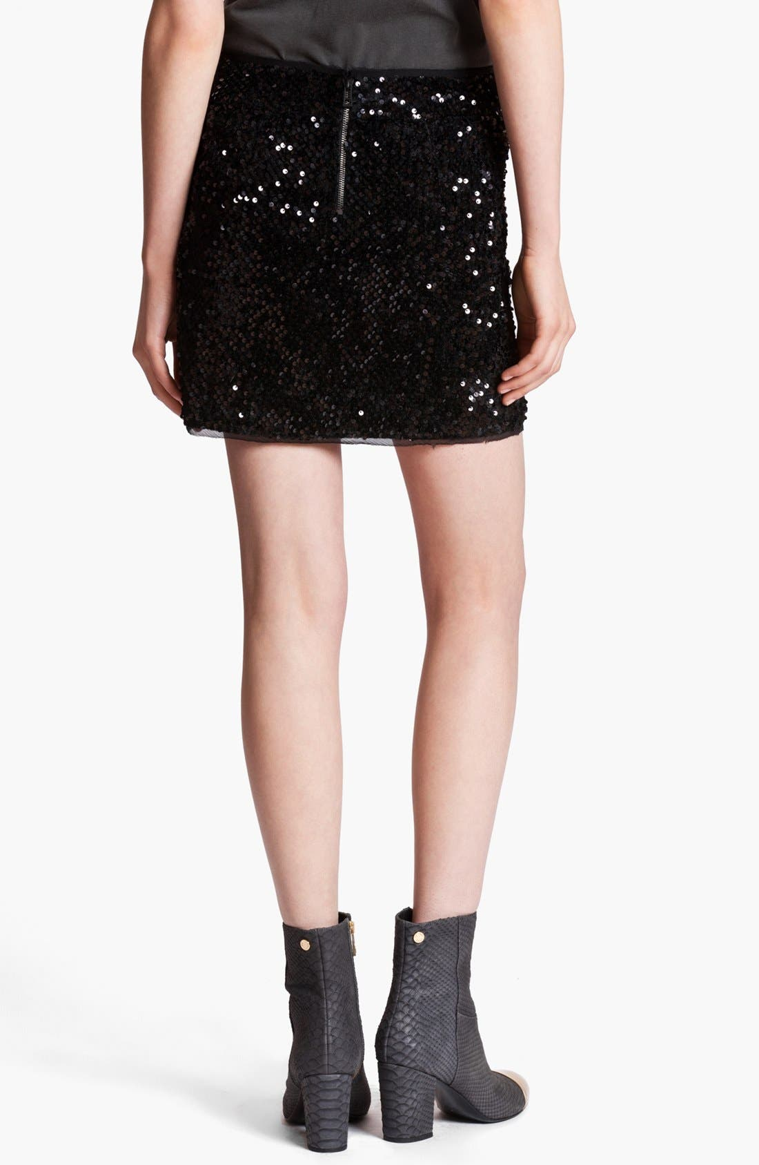 Alternate Image 2  - Zadig & Voltaire 'Jasmi' Sequin Miniskirt