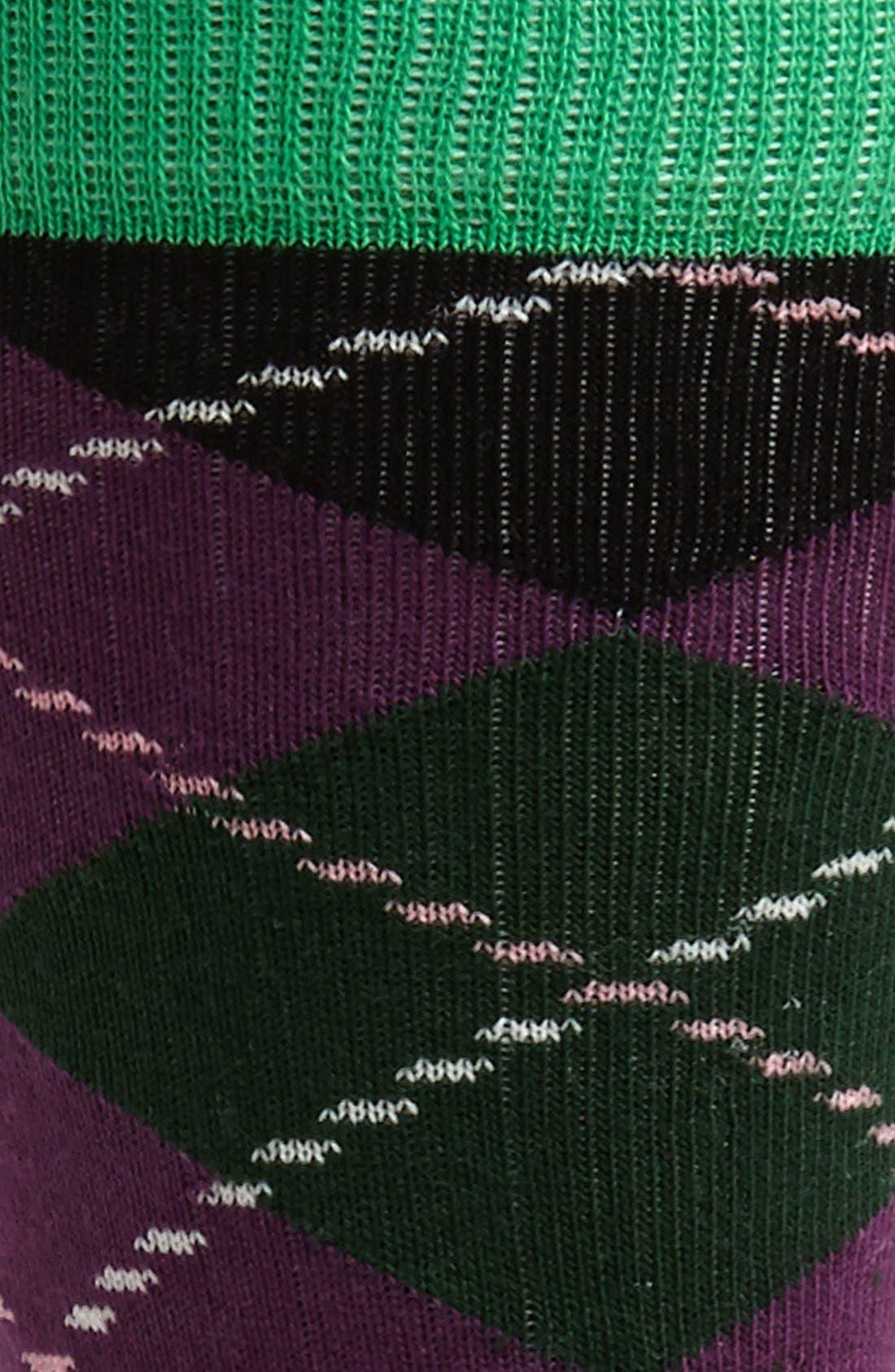 Alternate Image 2  - Happy Socks Argyle Patterned Combed Cotton Blend Socks