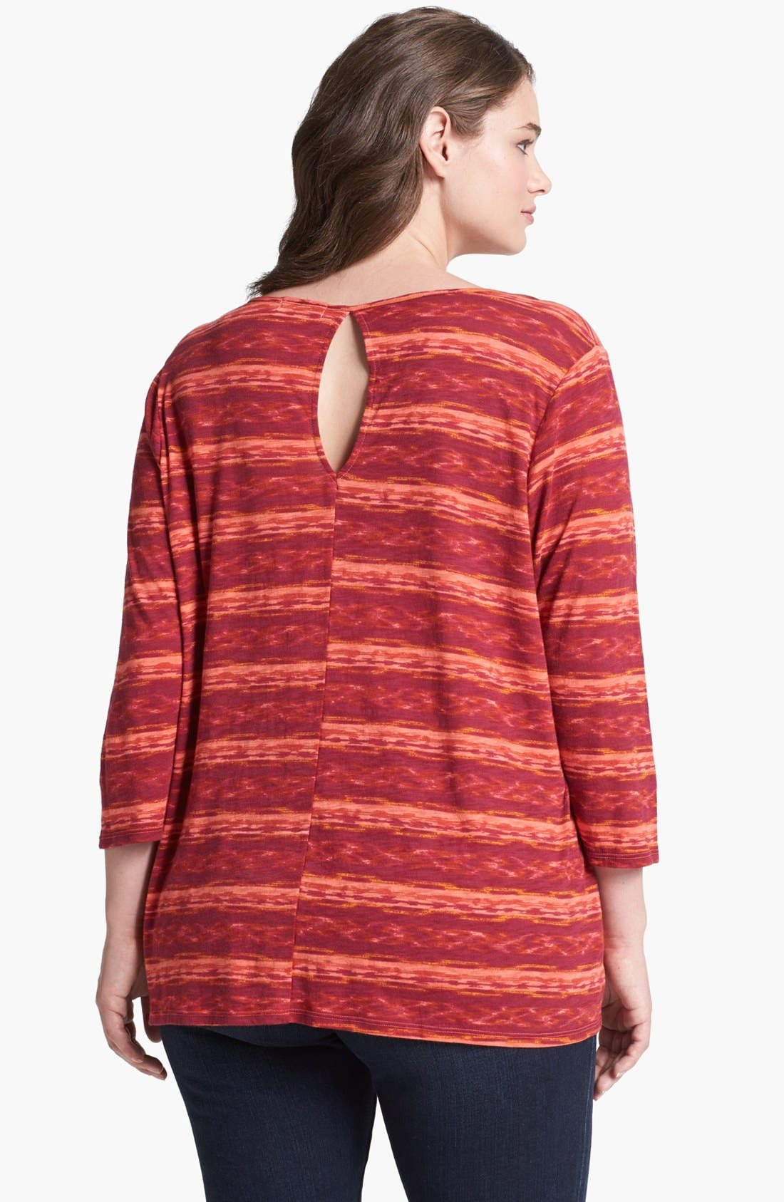Alternate Image 2  - Lucky Brand 'Amber' Stripe Top (Plus Size)