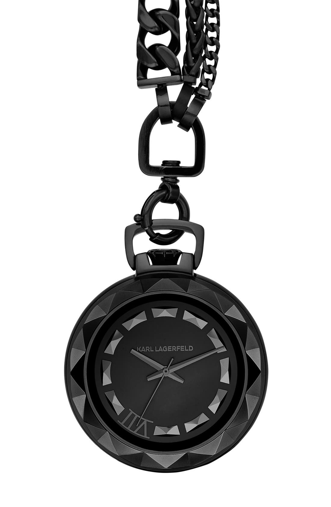 Main Image - KARL LAGERFELD '7' Pocket Watch, 45mm
