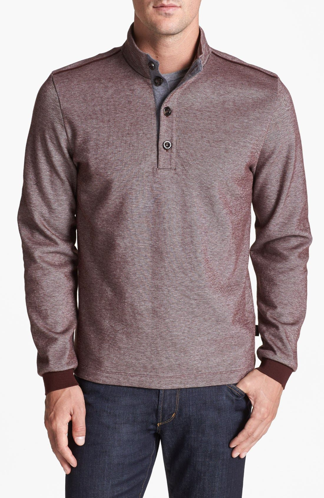 Alternate Image 1 Selected - BOSS HUGO BOSS 'Piceno' Mock Neck Sweatshirt