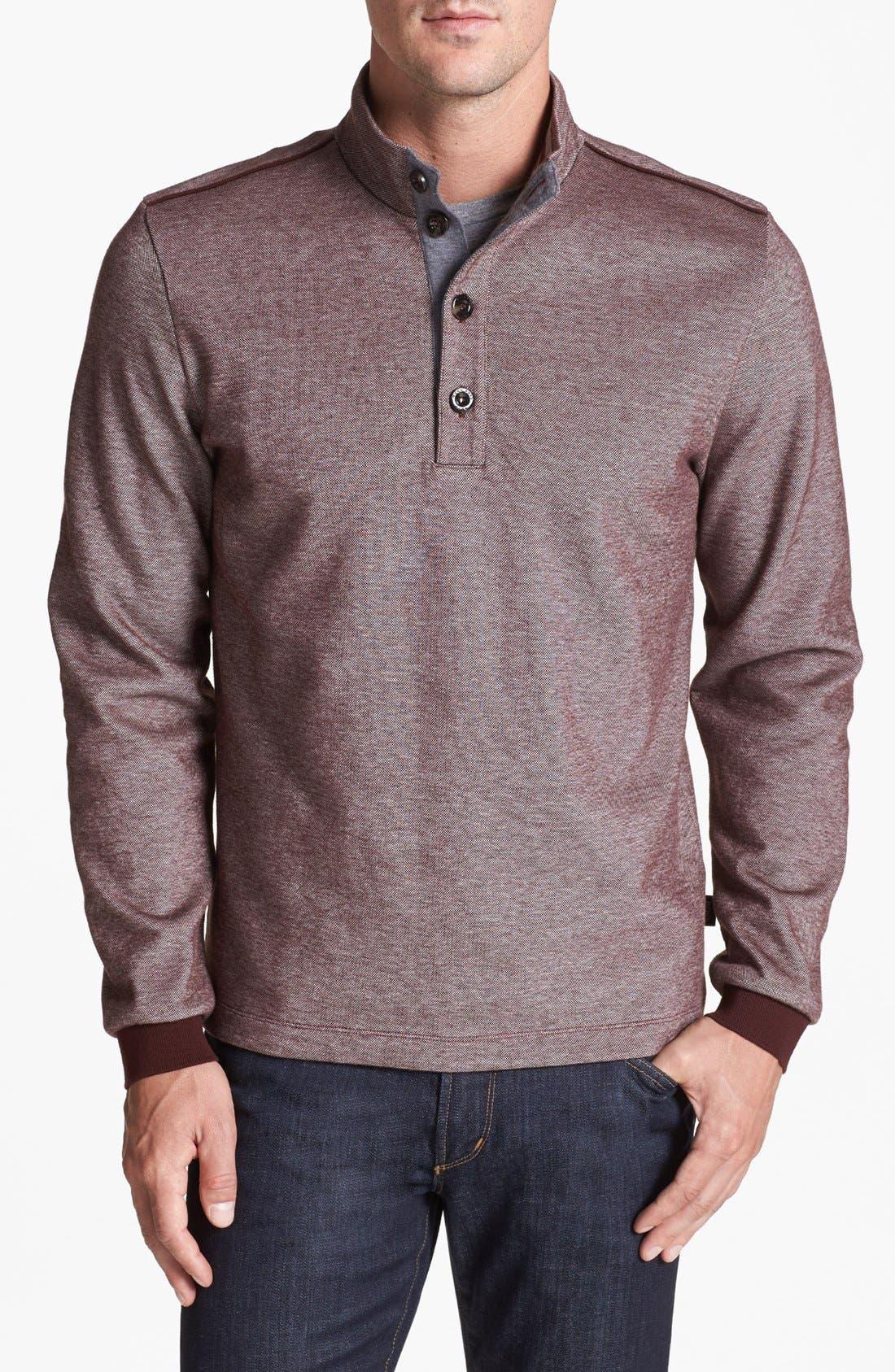 Main Image - BOSS HUGO BOSS 'Piceno' Mock Neck Sweatshirt