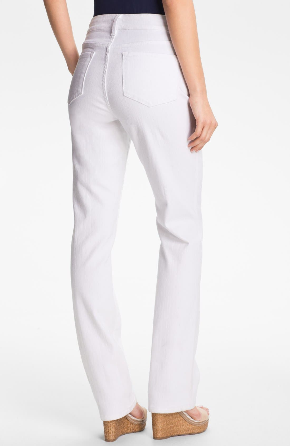 Alternate Image 2  - NYDJ 'Marilyn' Straight Leg Stretch Jeans (Petite)
