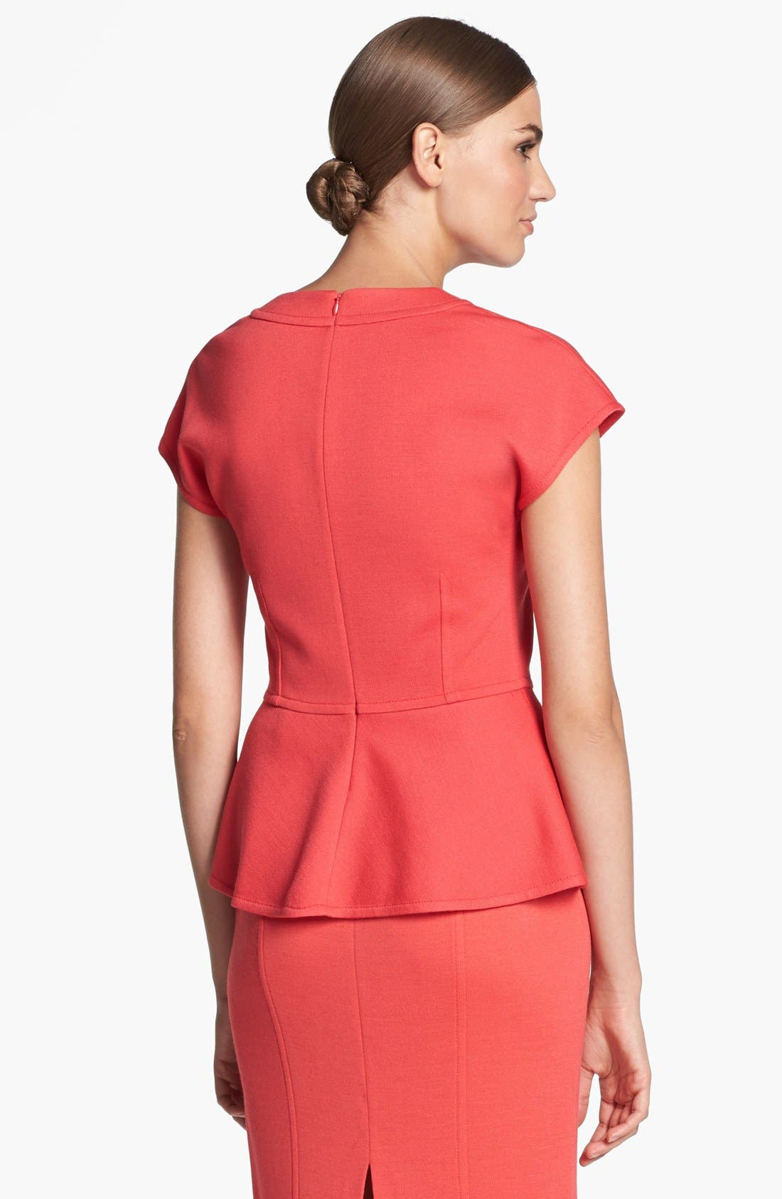 Alternate Image 4  - St. John Collection Cap Sleeve Milano Knit Peplum Top