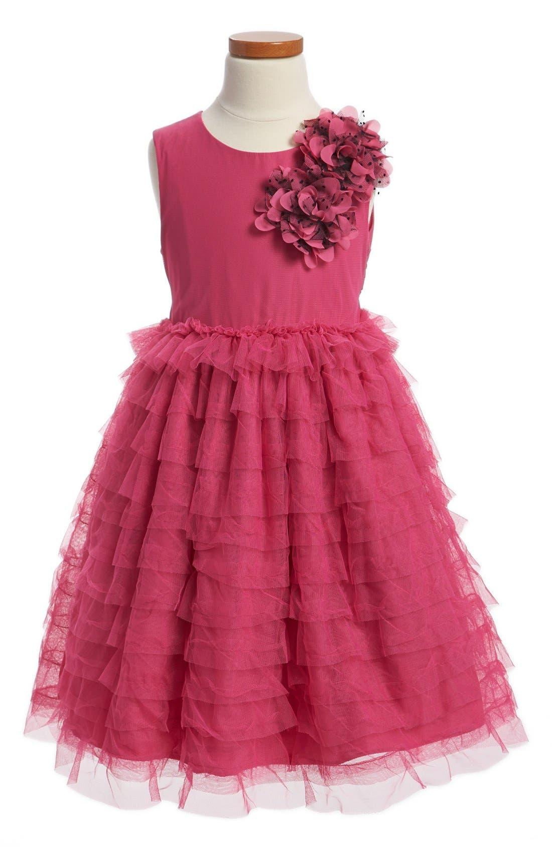 Main Image - Pippa & Julie Ruffle Tulle Dress (Little Girls & Big Girls)