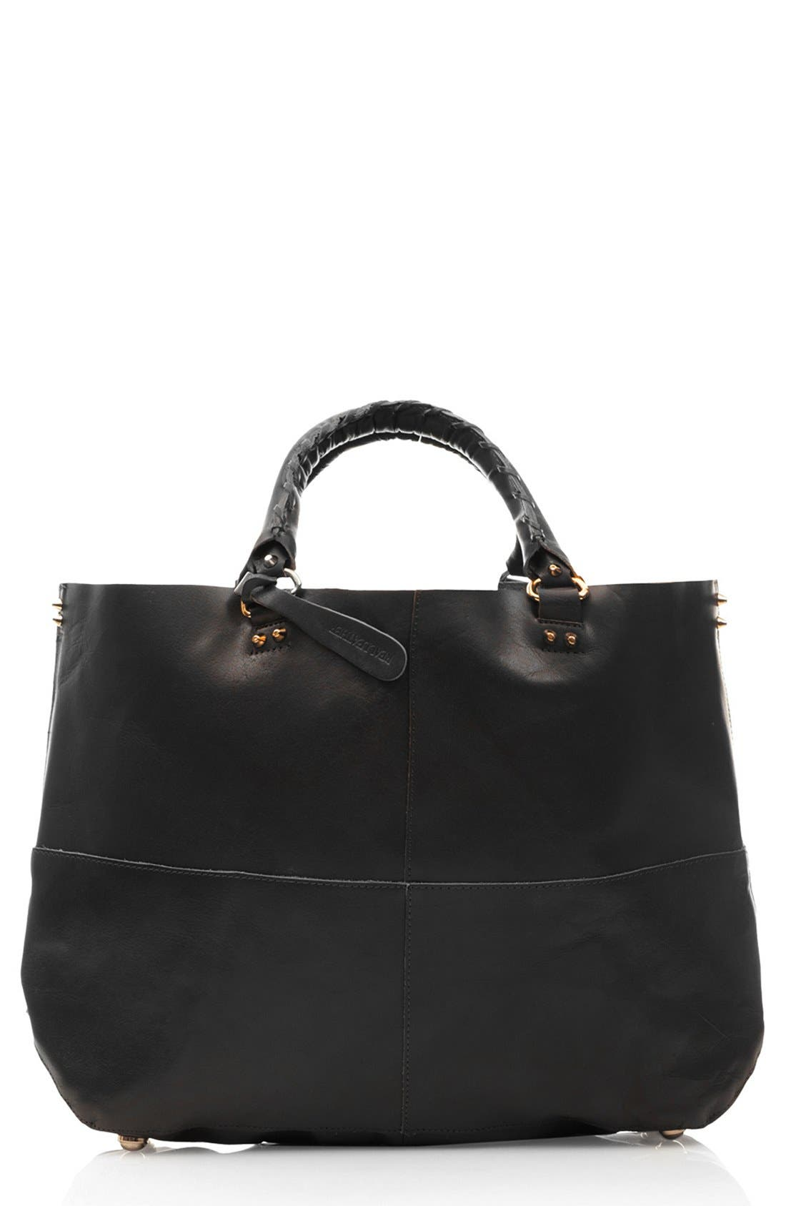 Main Image - Topshop 'Clean' Leather Tote