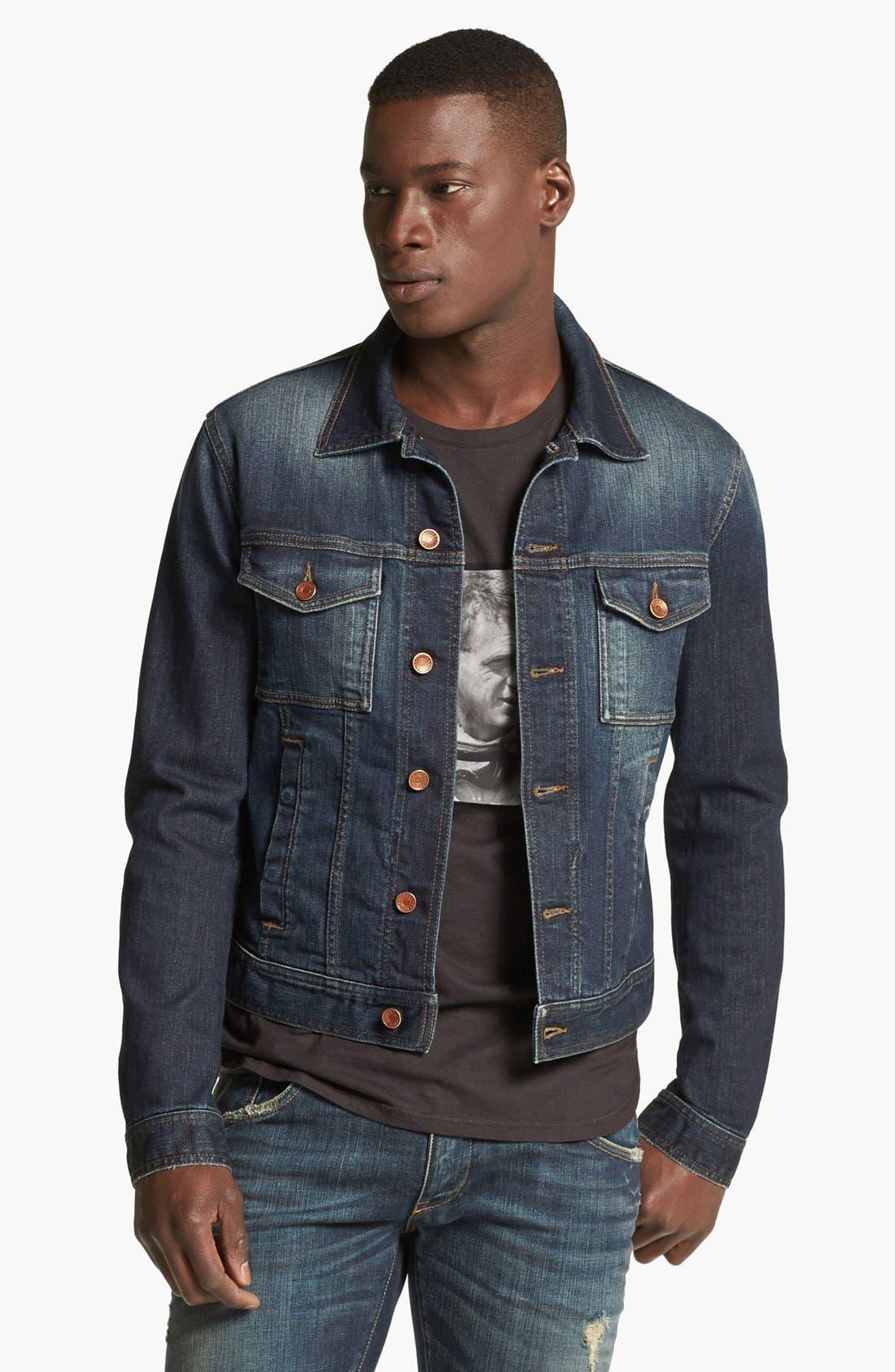 Alternate Image 1 Selected - Dolce&Gabbana Dark Denim Jacket