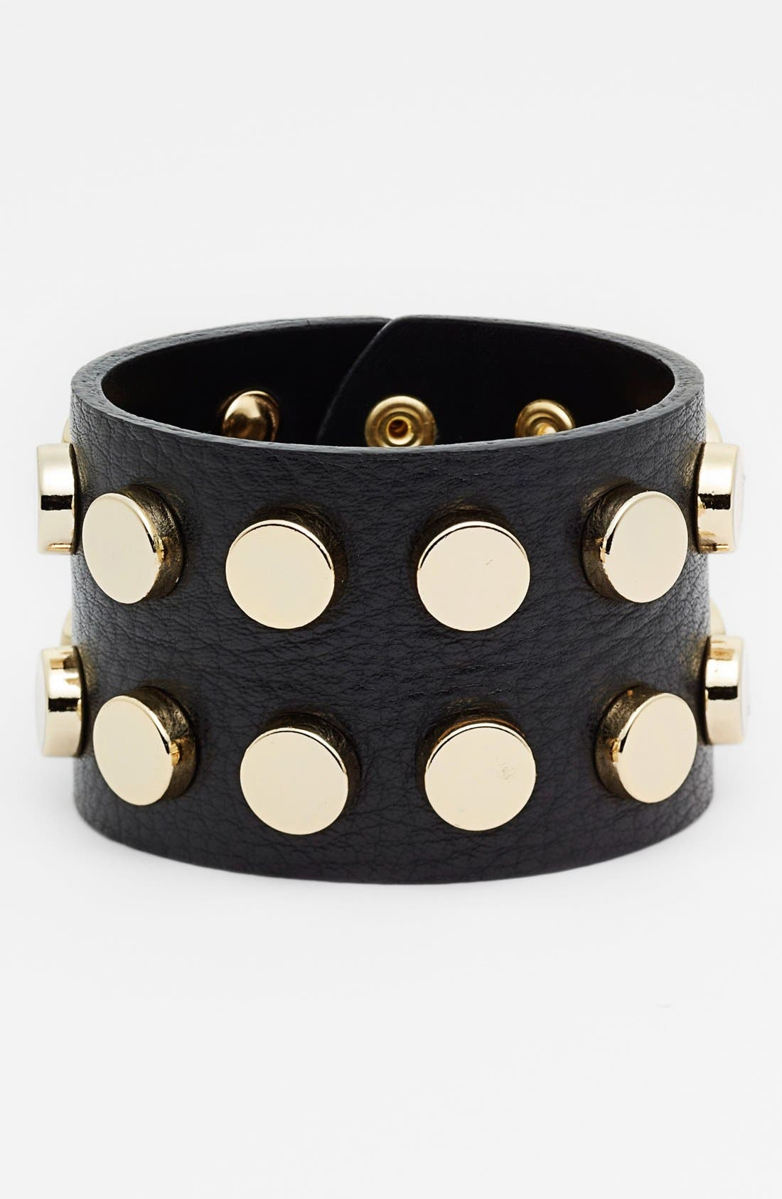 Alternate Image 1 Selected - Cara Studded Leather Cuff