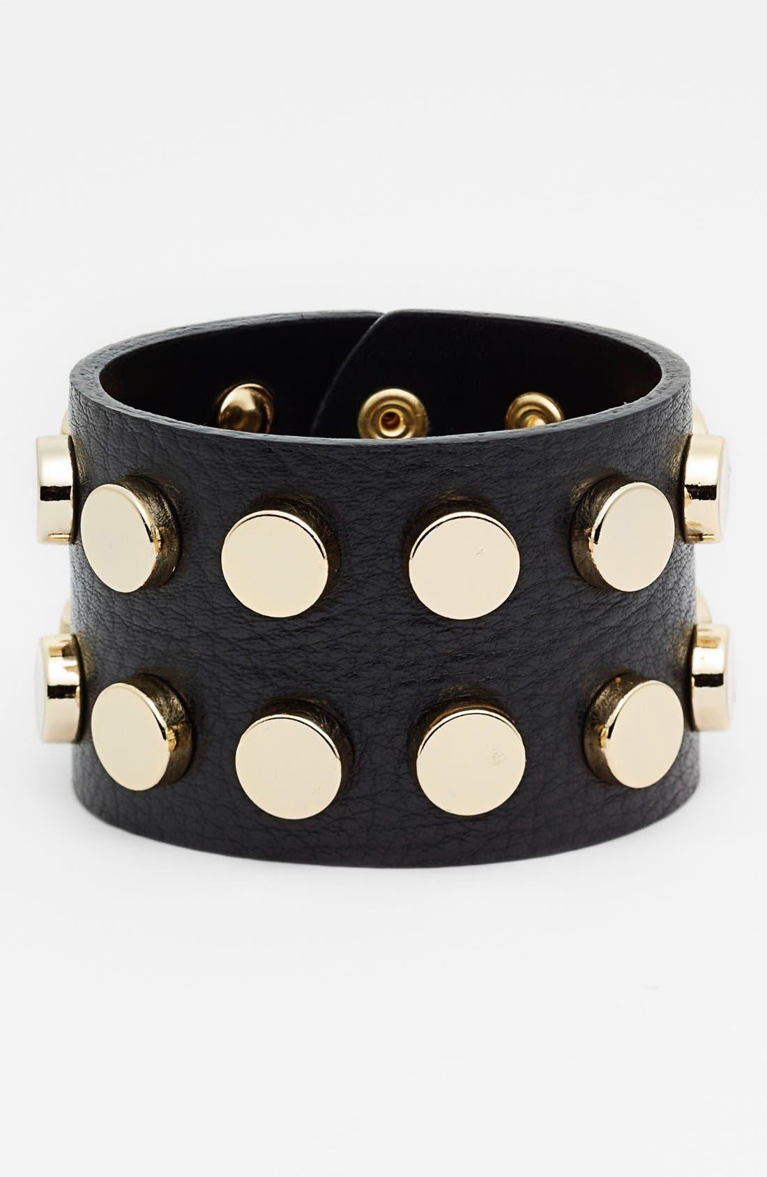 Main Image - Cara Studded Leather Cuff
