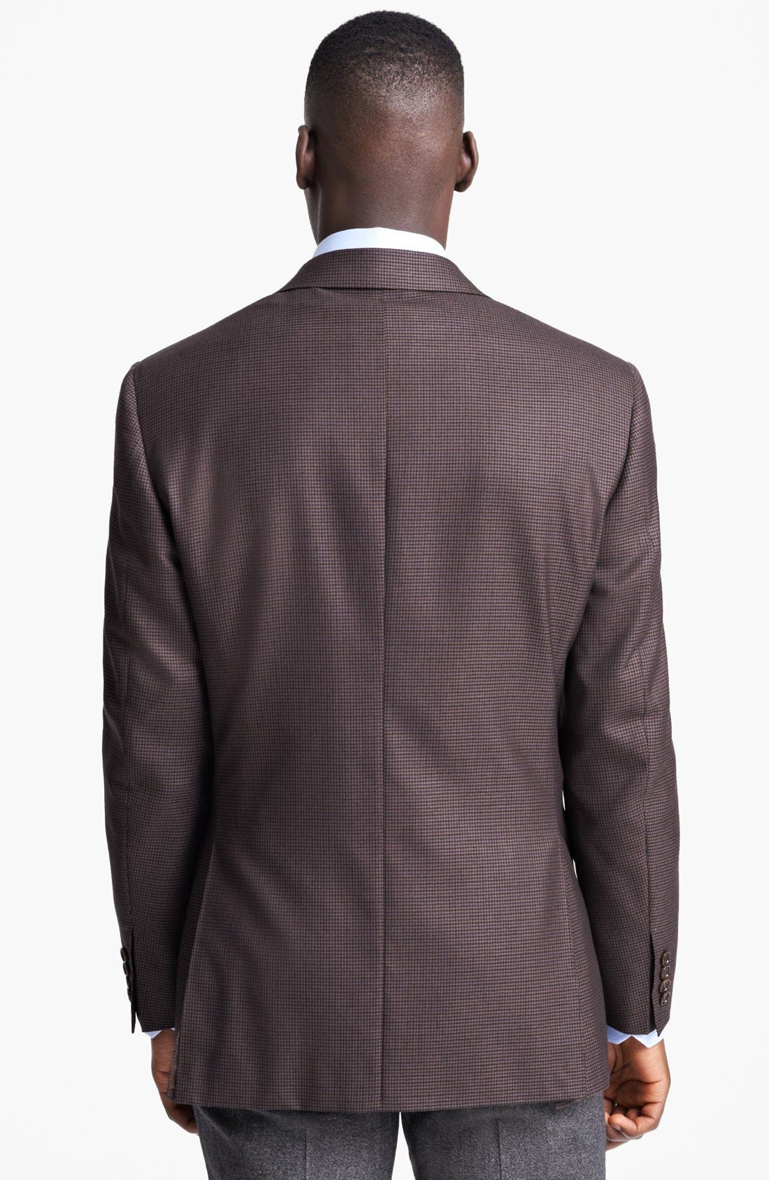 Alternate Image 3  - Canali Classic Fit Plaid Sportcoat