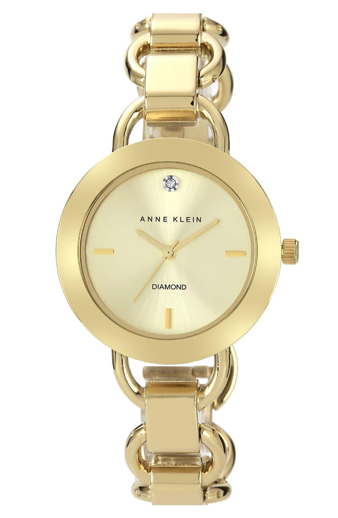Alternate Image 1 Selected - Anne Klein Diamond Dial Bracelet Watch, 34mm