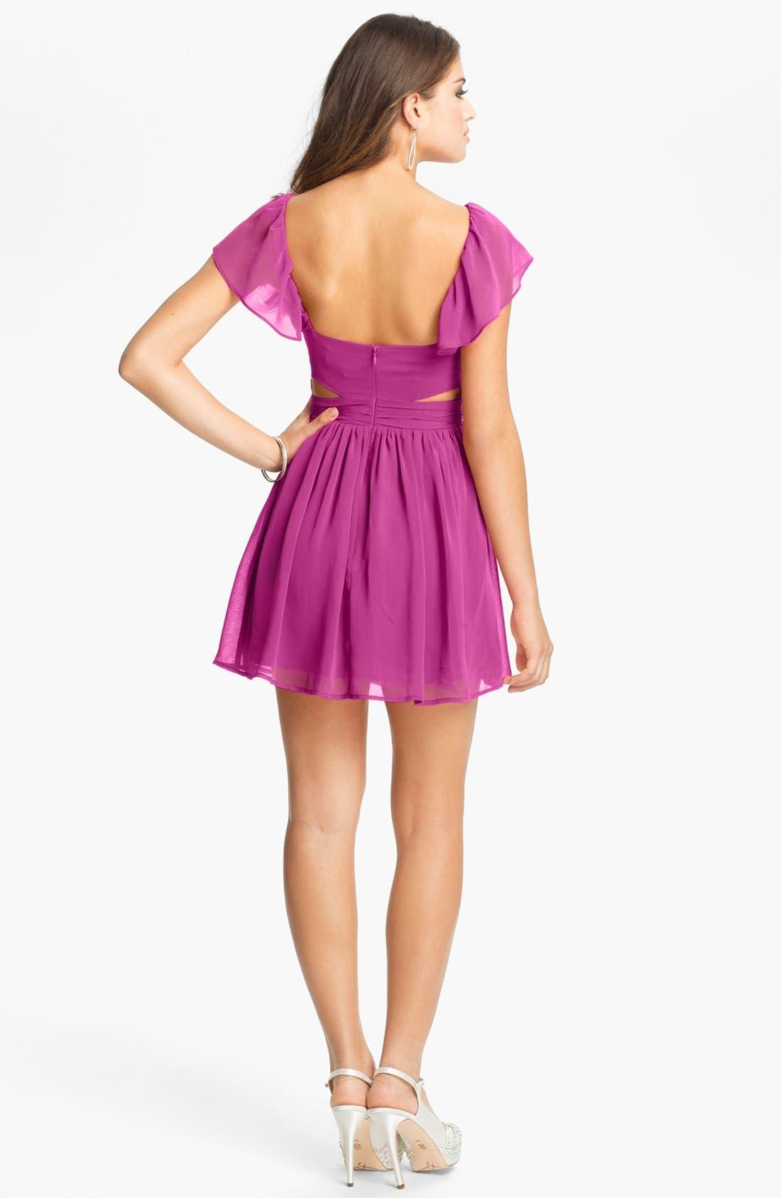 Alternate Image 2  - Keepsake the Label 'Lost Without You' Ruffled Mini Dress