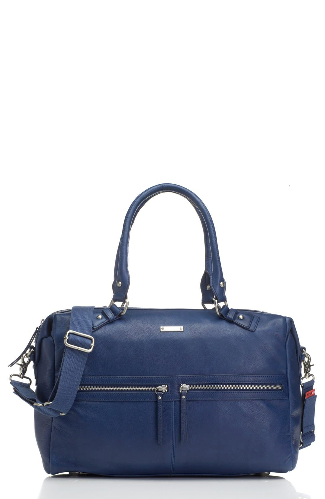 Main Image - Storksak 'Caroline' Leather Diaper Bag