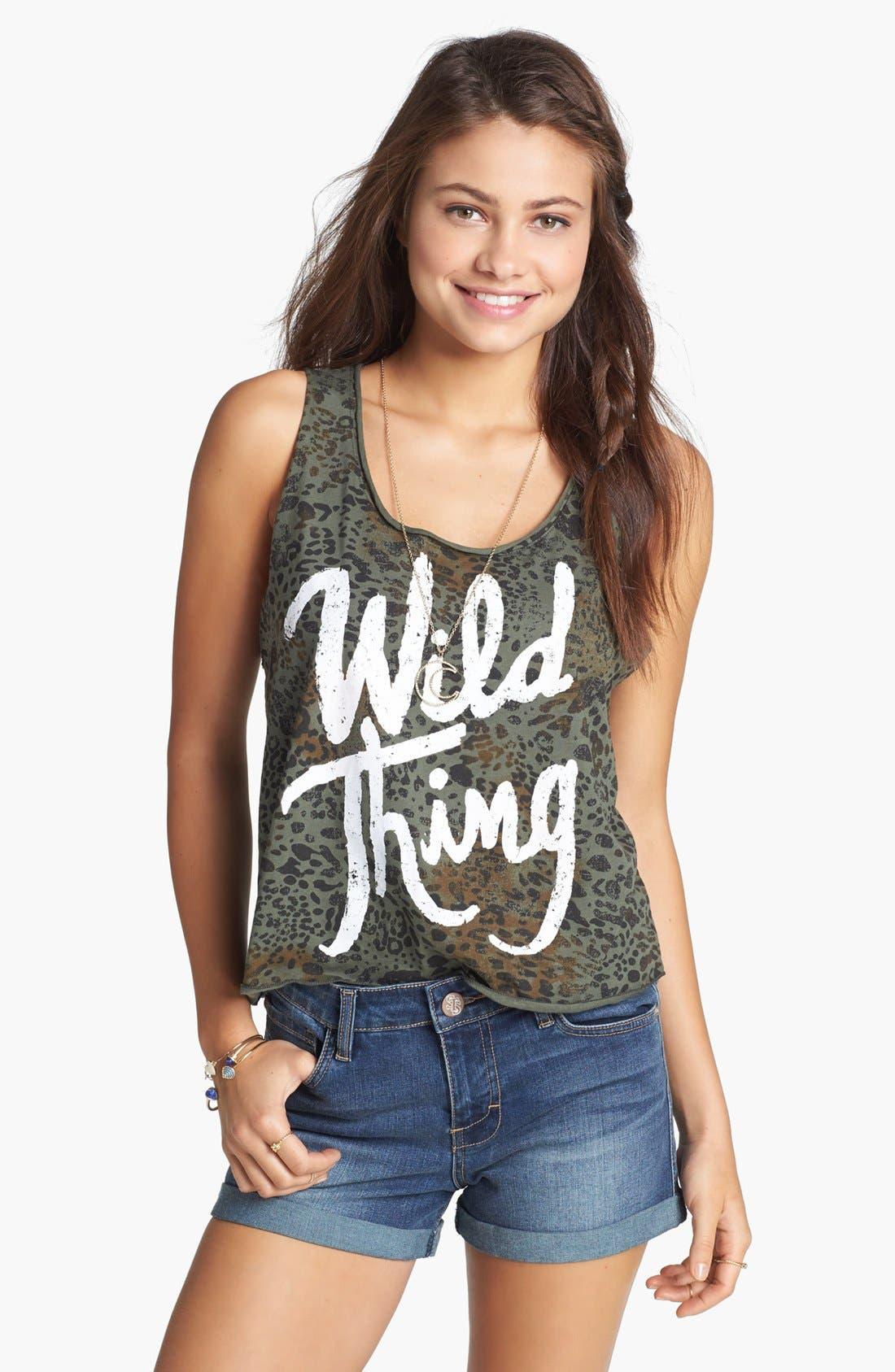 Main Image - Ten Sixty Sherman 'Wild Thing' Print Crop Tank (Juniors)
