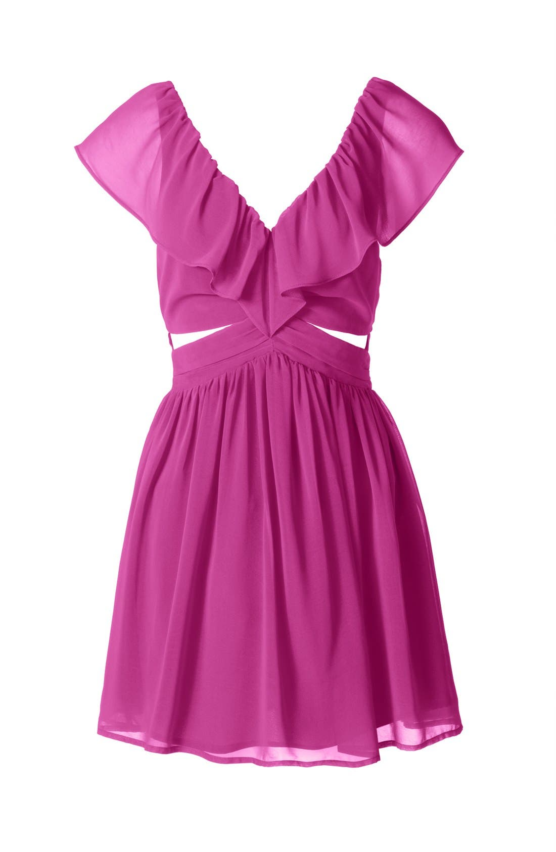 Alternate Image 3  - Keepsake the Label 'Lost Without You' Ruffled Mini Dress