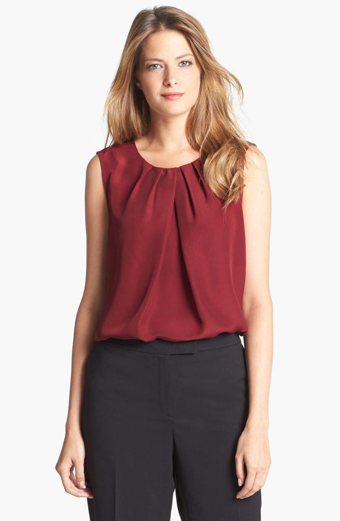 Main Image - Jones New York Collection 'Abby' Pleat Neck Blouse