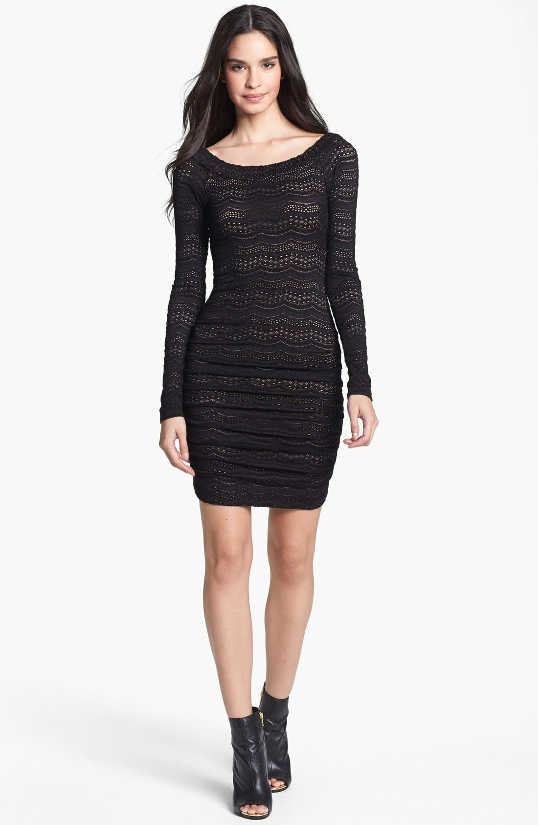 Main Image - BCBGMAXAZRIA Lace Body-Con Dress