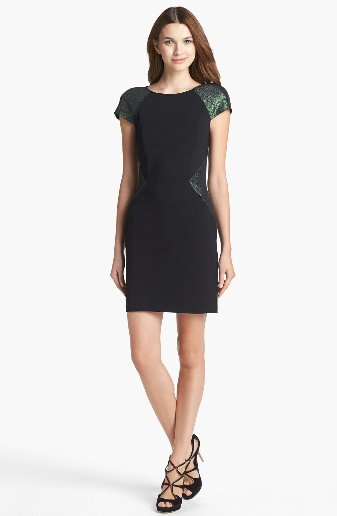 Alternate Image 1 Selected - ERIN erin fetherston 'Eliane' Jacquard Colorblock Sheath Dress