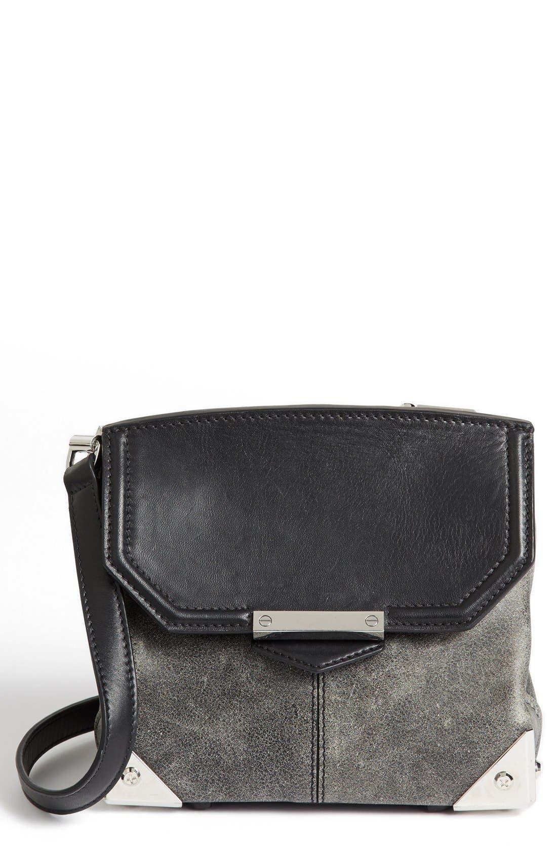 Main Image - Alexander Wang 'Marion' Distressed Leather Crossbody Bag
