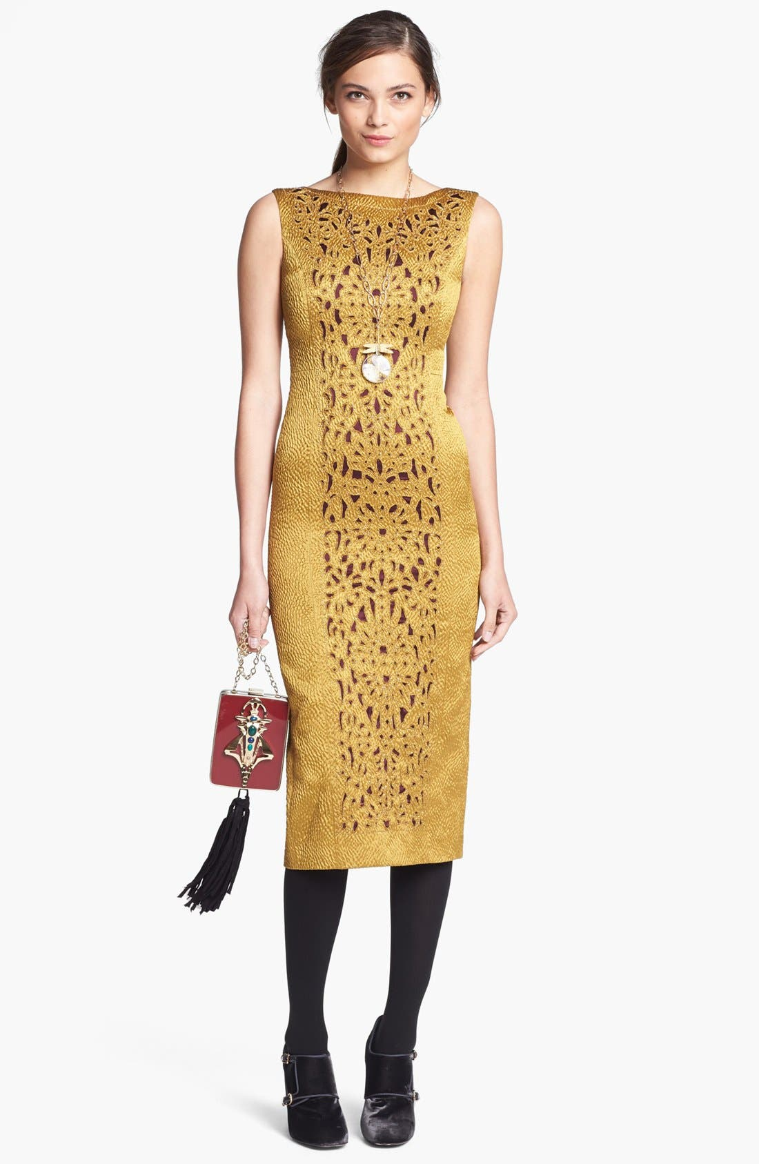 Alternate Image 1 Selected - Tory Burch Dress & Pump