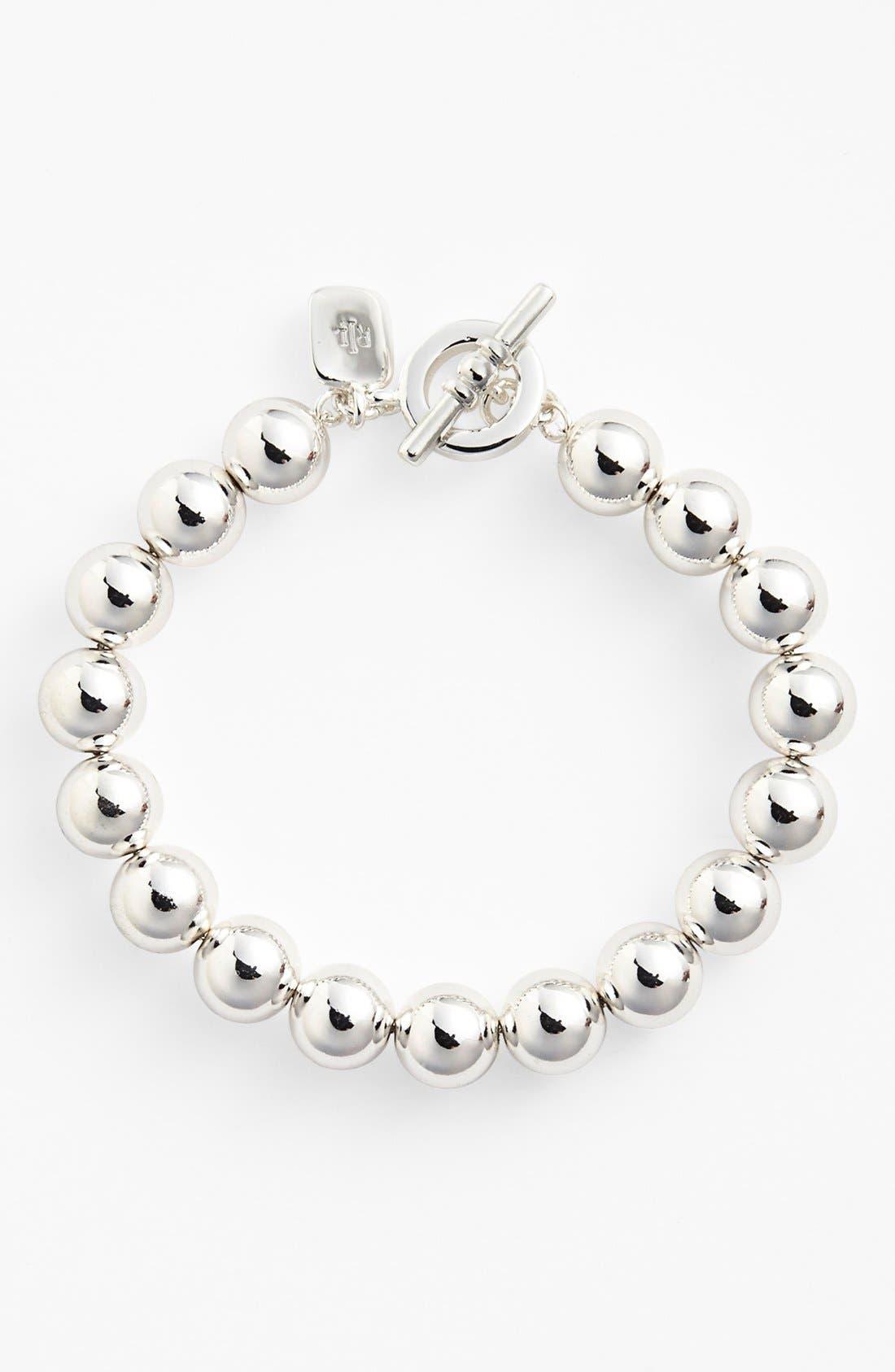Alternate Image 1 Selected - Lauren Ralph Lauren Metal Bead Toggle Bracelet