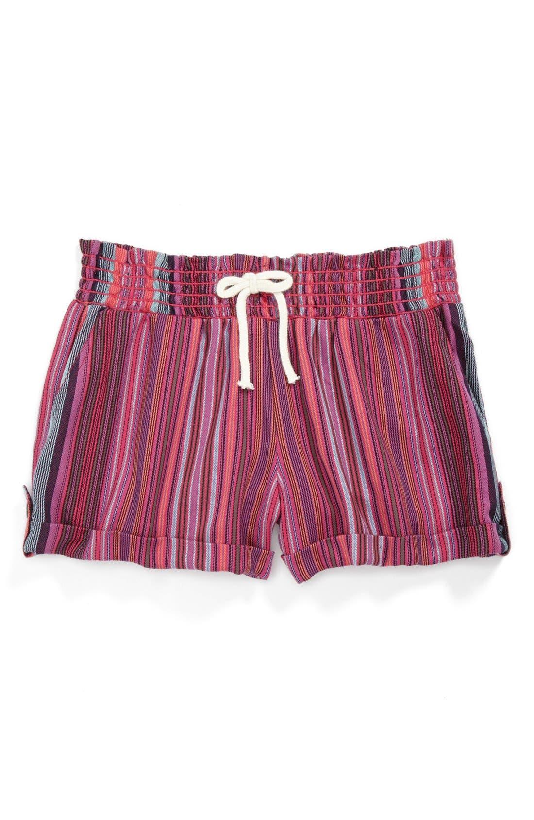Main Image - Roxy 'Beach Comber' Yarn Dye Shorts (Big Girls)
