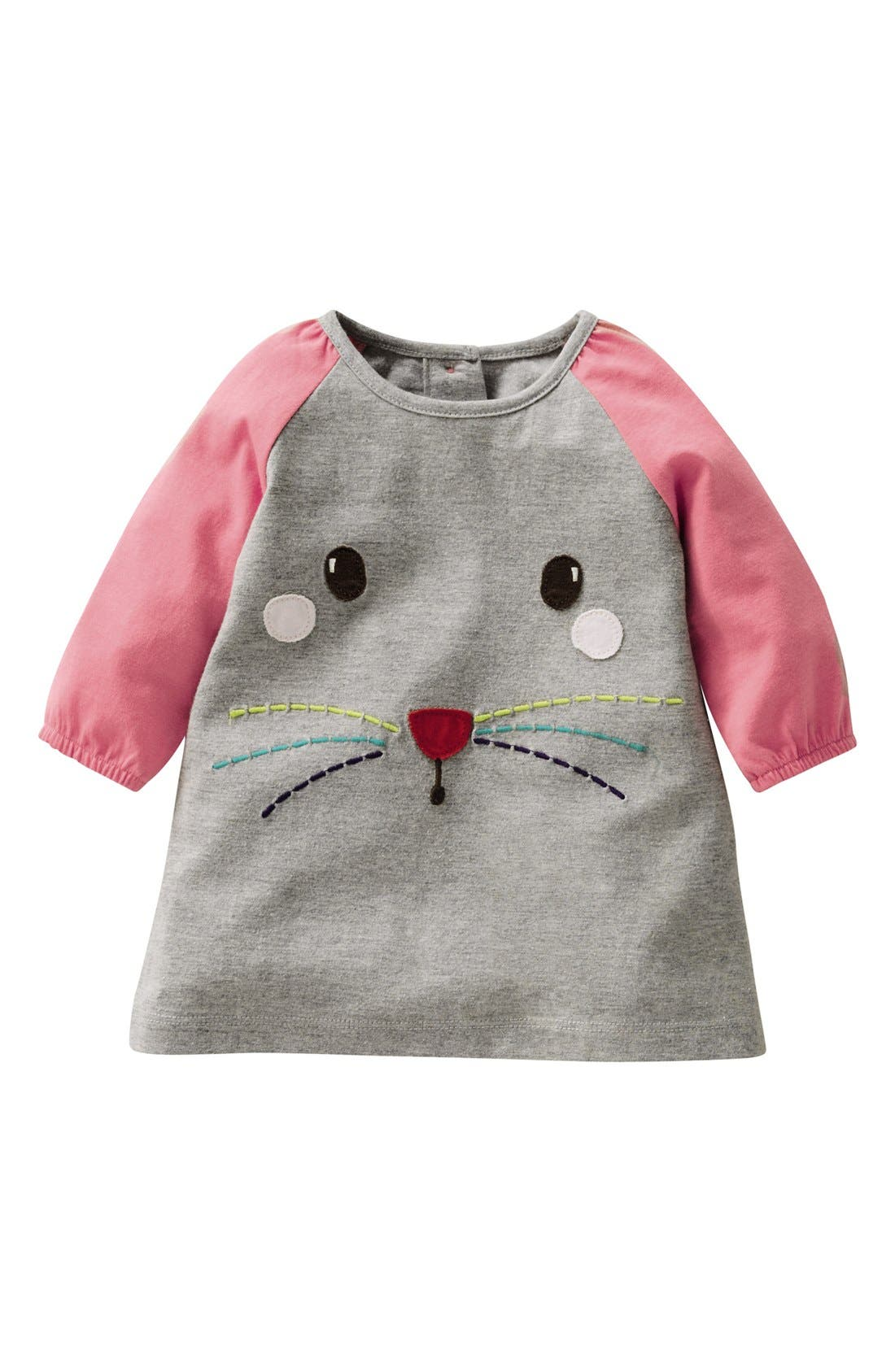 Main Image - Mini Boden Appliqué Play Dress (Baby Girls)
