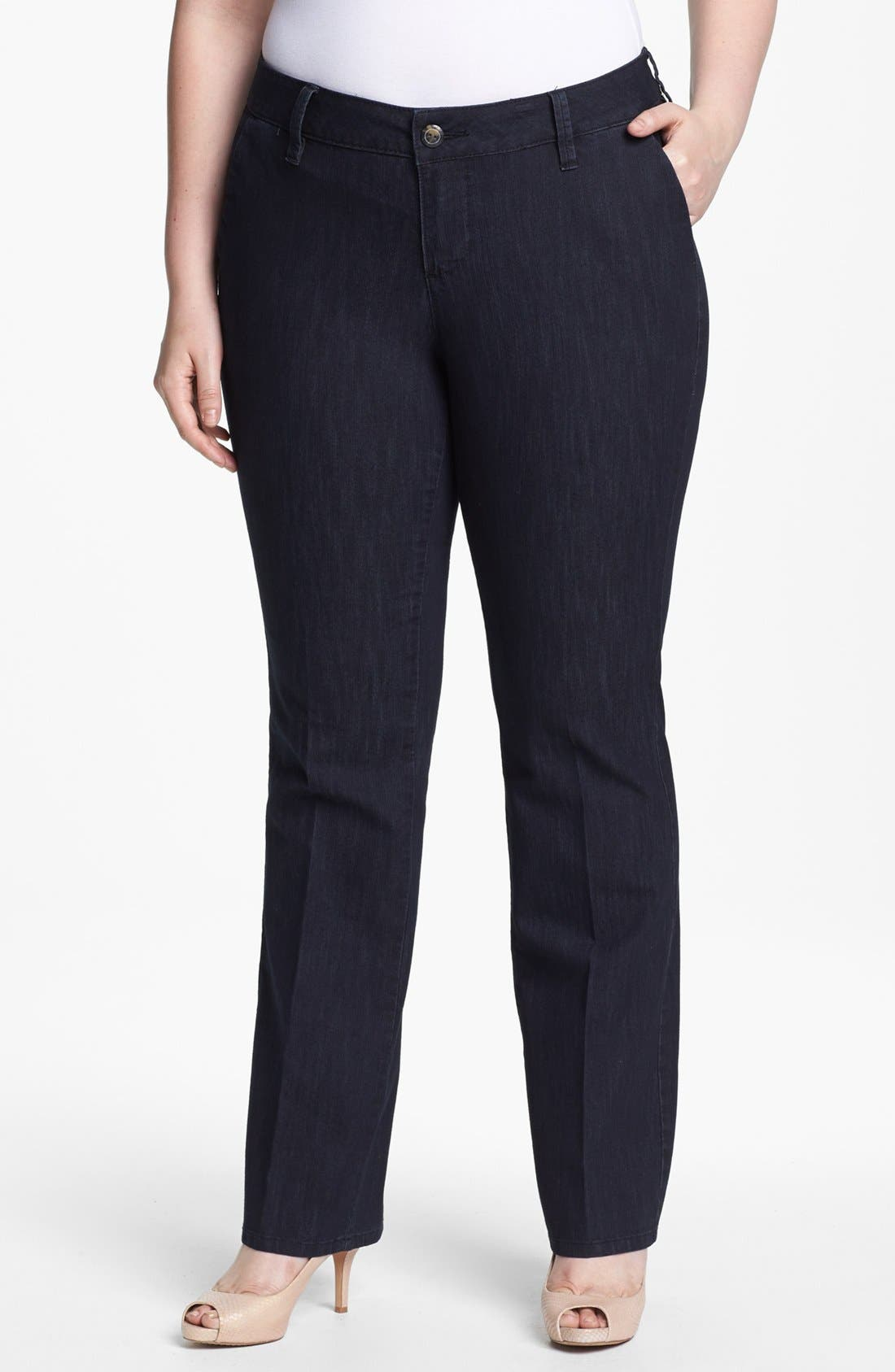 Alternate Image 1 Selected - Jag Jeans 'Elisha' Trouser Jeans (Plus Size)