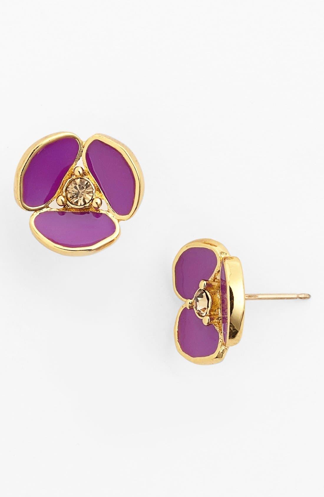 Main Image - kate spade new york 'disco pansy' stud earrings