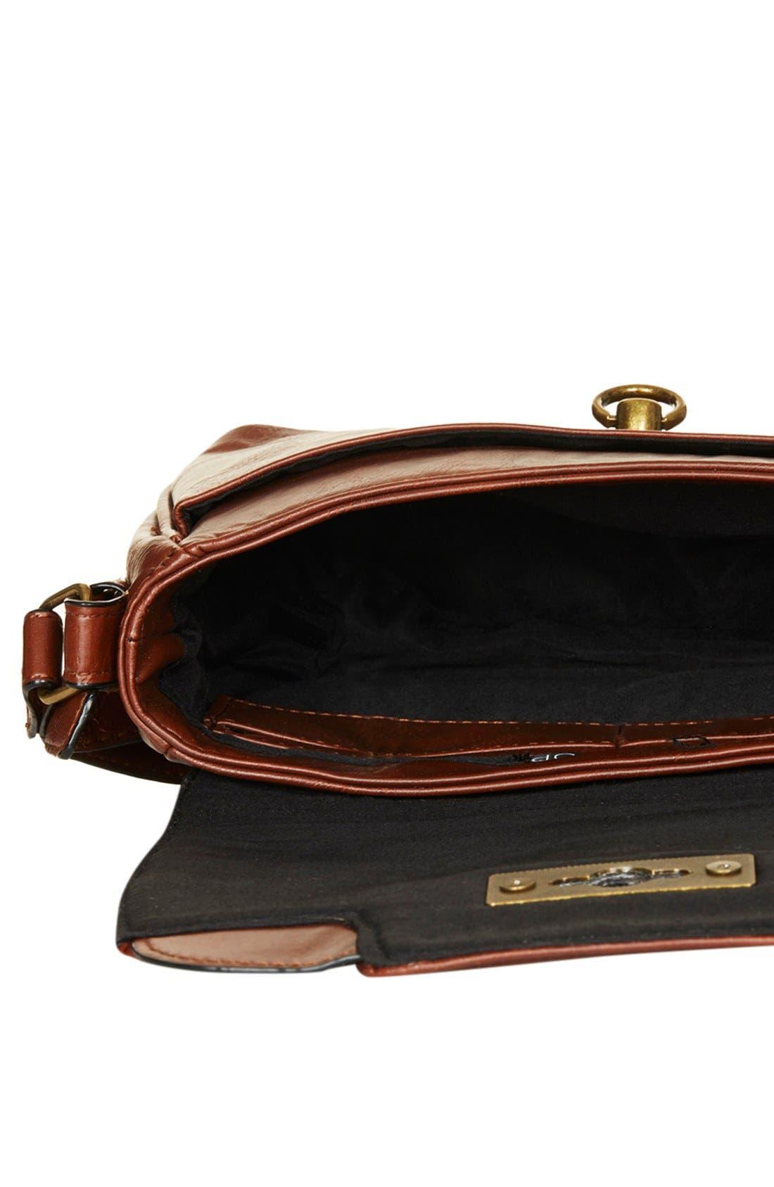Alternate Image 3  - Topshop Faux Leather Crossbody Bag