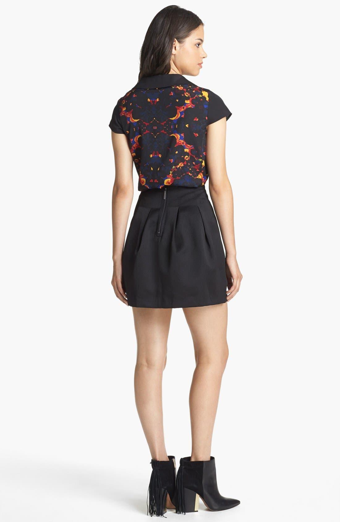 Alternate Image 2  - Kensie Blouse & Miniskirt