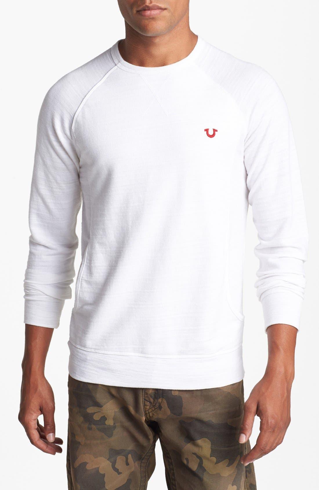Alternate Image 1 Selected - True Religion Brand Jeans Crewneck Sweatshirt