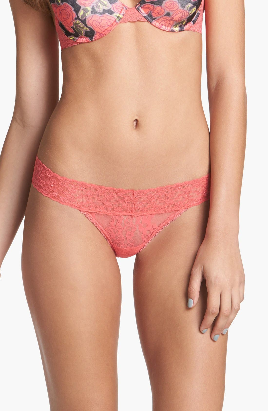 Alternate Image 1 Selected - BP. Undercover Lace Waist Thong (Juniors)